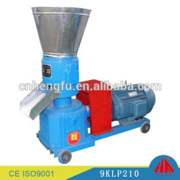9KLP210 Straw pellet mill biomass pellet machine details flat die animal feed pellet machine