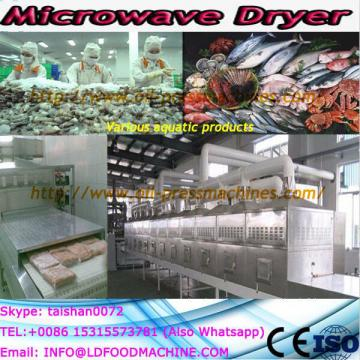 Drum microwave dryer working with rotary rake crushing device for industrial sludge drying