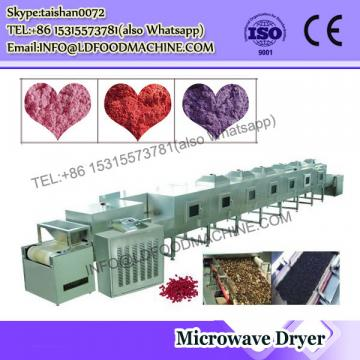 Continuous microwave microwave dryer for leaves