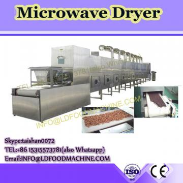 Triple microwave pass drying process rotary drum dryer