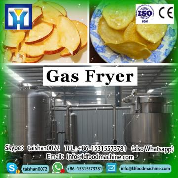 Free standing stainless steel gas fryer with one tank two baskets for fast food