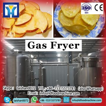 Stainless steel gas fryer with two baskets with oil filtration