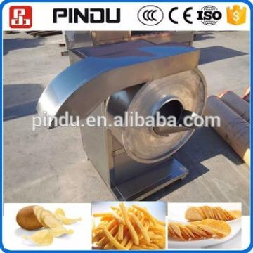 Industrial small stainless steel potato crisps chips french fries spiral cutter cutting machine