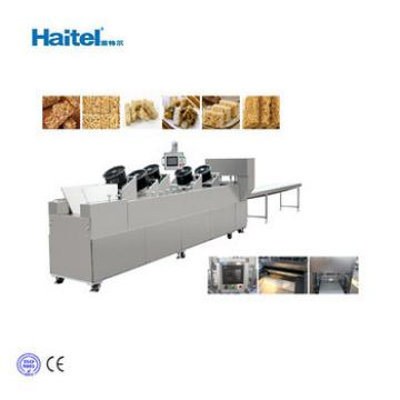 CE Approved Small Crisp Granola Peanut Bar Making Porduction Line