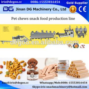 Jinan DG Pet food /Dog treats chews snack food extruding equipment /production line