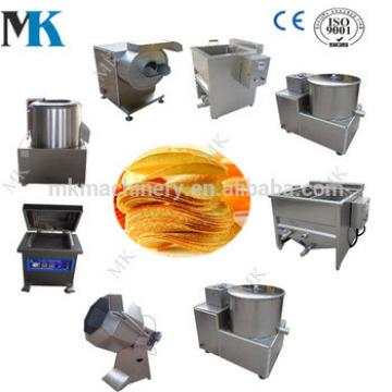 Stainless steel small scale potato chips production line potato chips making machine