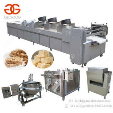 Commercial Cereal Candy Bar Production Line Peanut Granola Bar Making Machine