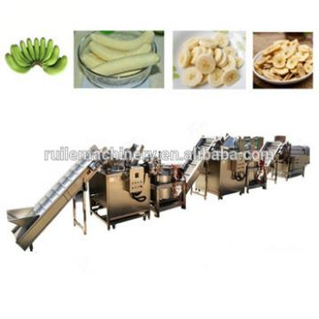 Fully automatic banana peeling cutting frying Flavoring machine
