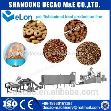 production line of dry food for dogs