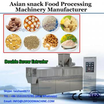 puffed food extruder/frying snack food processing line/3D snacks pellet machine