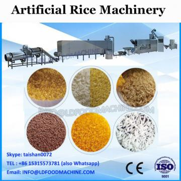 Self-cleaning artificial rice processing line