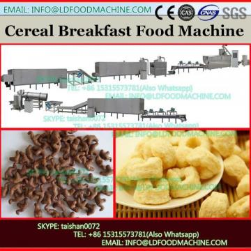 200kg/h continuous toasted complete grain breakfast cereal corn flakes making extruder machine line hot sale Turkey project