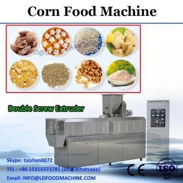 slanty puffed twin screw extruder corn snacks food making machine