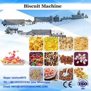 Double lane chocolate filling biscuit sandwiching making machine with flow packaging machine