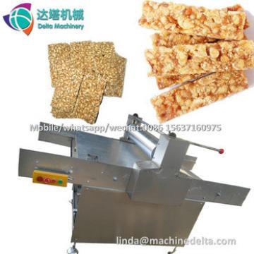 Semi automatic peanut brittle cutting production line/Gozinaki cereal granola bar maker machine