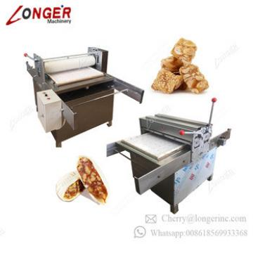 Professional Semi Automatic Peanut Brittle Cutting Production Line Nougat Cereal Granola Bar Making Protein Bar Machine