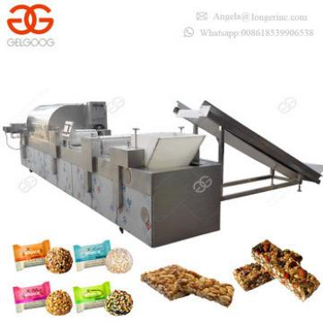 Automatic Peanut Brittle Making Machine Snack Bar Cutting Energy Ball Forming Granola Moulding Machine