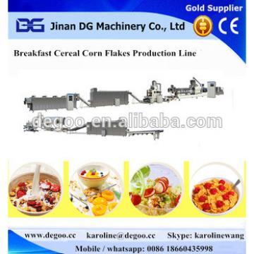 Automatic Crunchy breakfast cereal Cornflex extruder machinery