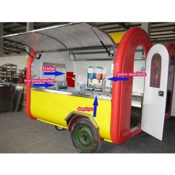 Mobile Snacks carts for making all kinds of snacks / potato chips cart