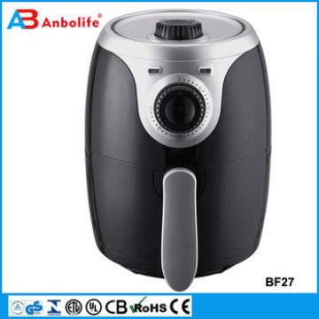 Anbolife as seen on tv 2017 kitchen appliance portable small capacity 2.0L easy to use potato chips making machine air fryer