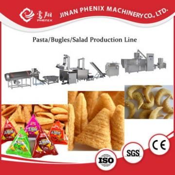 Bugle chips snacks single screw extruder making machine