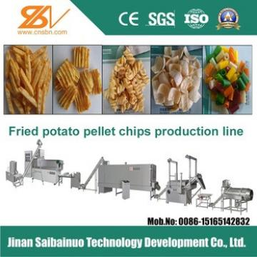 high quality fried pellet chips making machine