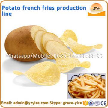 Crisps making line / potato french fries machine / machine to make potato chips