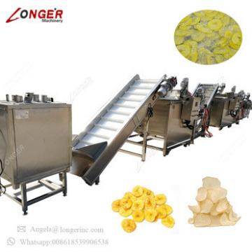 Industrial Plant Best Price Apple Chips Production Line Potato Banana Yuca Plantain Yam Chips Making Machine