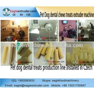 DP100 pet dog food treats dental chews extruder production line
