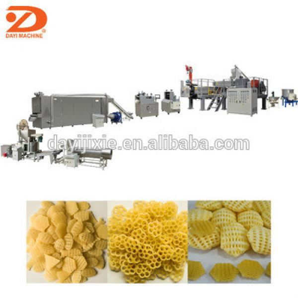 Fry snack pellet extruder machine/Extruded potato chips making machinery/Crispy chip pellet snack production line