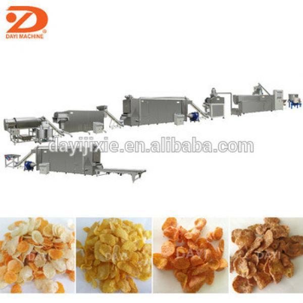Automatic Chocolated sweet flavored corn flakes making machine