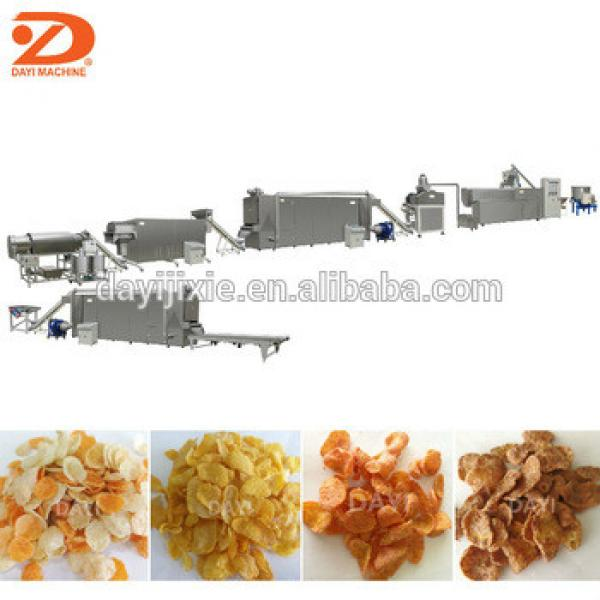 Large Capacity Double Screw Extruded Corn Flakes Machinery