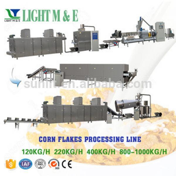 Twin Screw Extruder Corn Flakes Breakfast Cereal Machinery