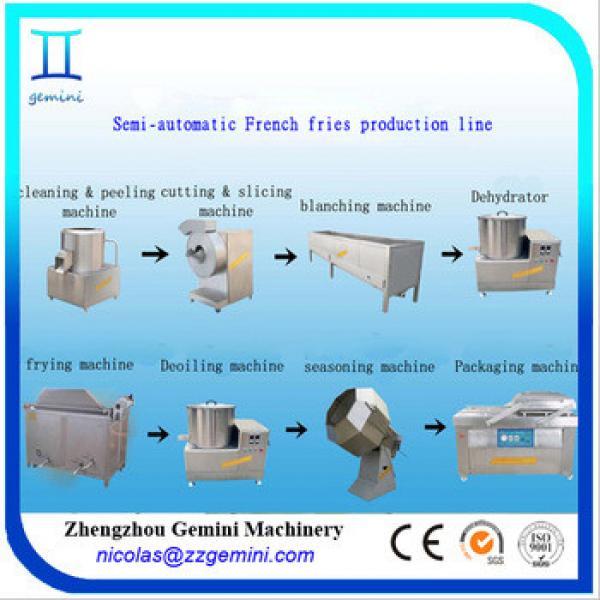 Semi automatic fresh potato chip machine, 30-50kg/h lays potato chips making machine price