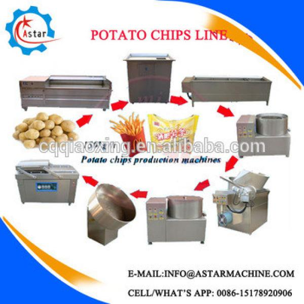 Semi-automatic French Fries Processing Line/Frozen Fresh Potato Chips Making Machine