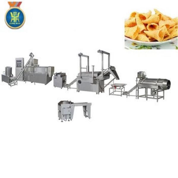 fresh potato chips frying food making machinery