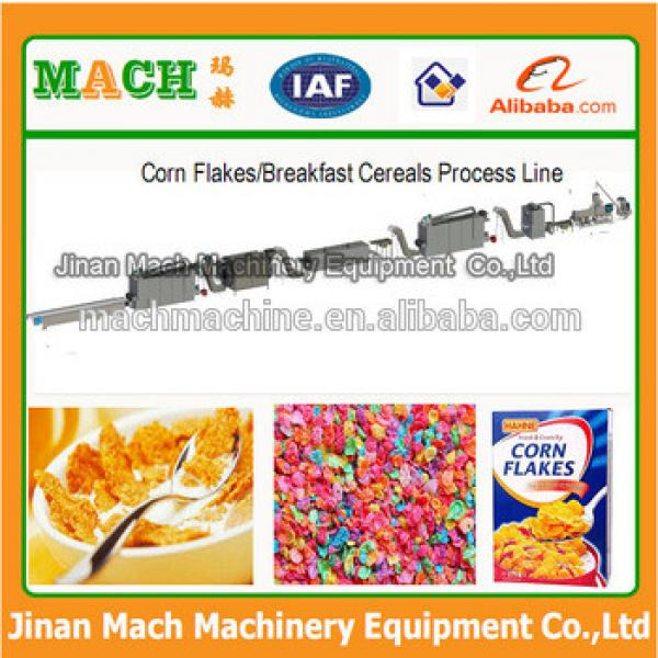China automatic breakfast cereal corn flakes making machine, corn flakes processing line