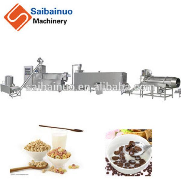 2018 china stainless steel breakfast cereals corn flakes making machine