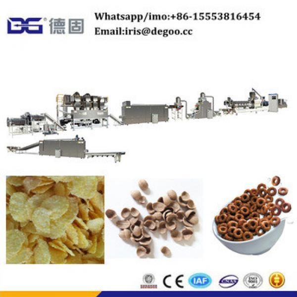 Choco 500kg per hour coco ball frosting corn flakes making equipment Jinan DG machinery
