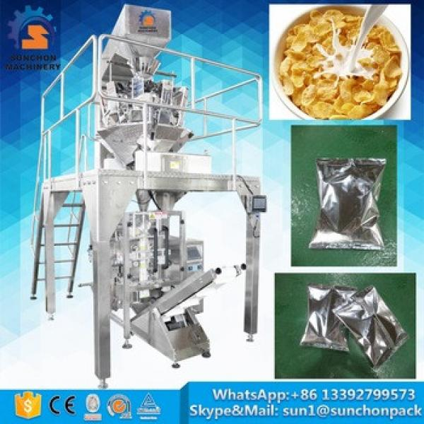 Aluminum Film Pillow Bag Automatic Breakfast Corn Flakes Cereal Vertical Packaging Machine
