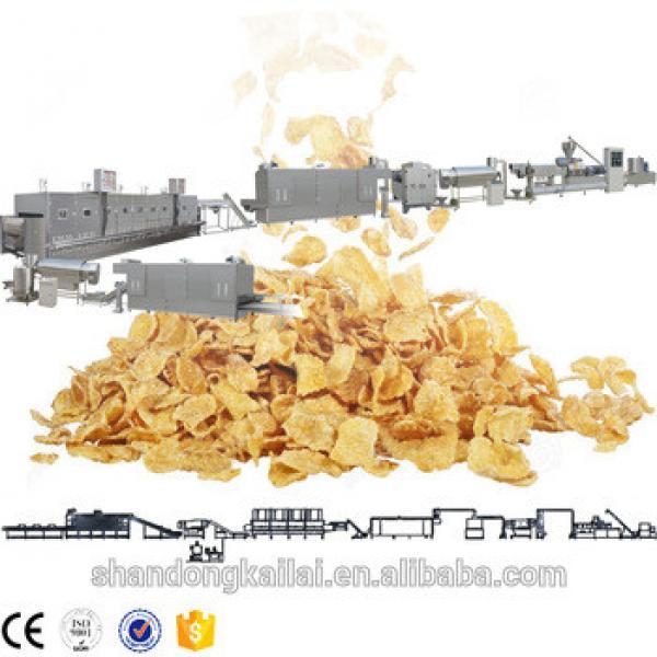 Twin screw extruder breakfast cereal cheerios snacks machine
