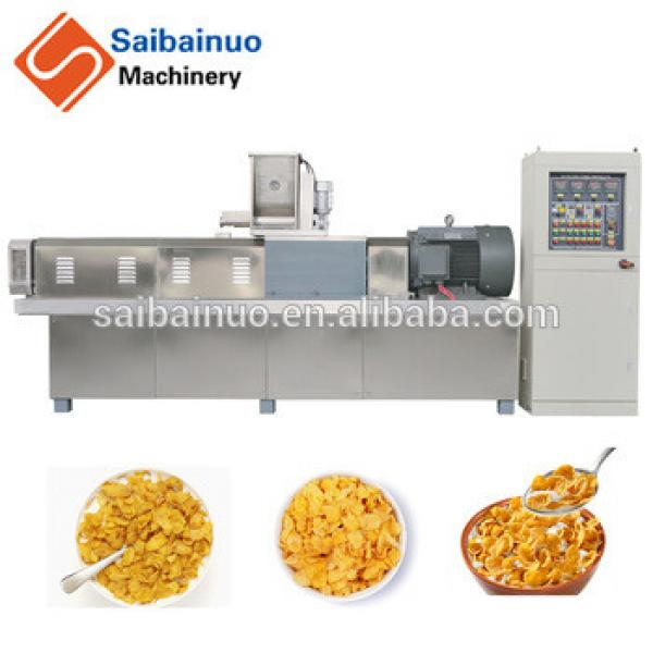 Corn flakes breakfast cereals processing machine plant