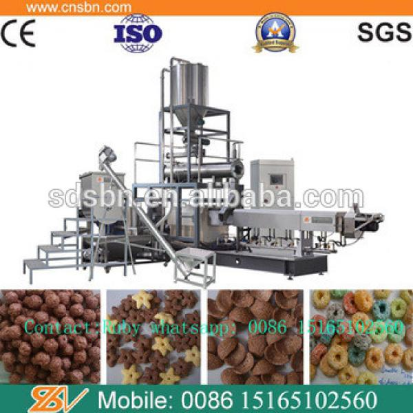 Automatic Nestle sugar coating corn flakes breakfast baby cereals making machine manufacturing equipment supplier