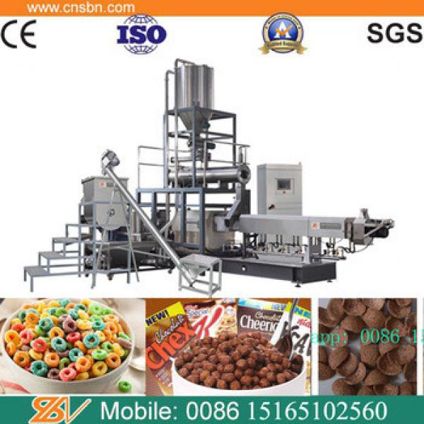 automatic cereal breakfast corn flakes snack food making machine production line