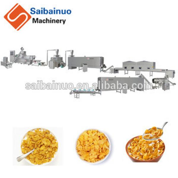 Breakfast cereal corn flakes snack making machine