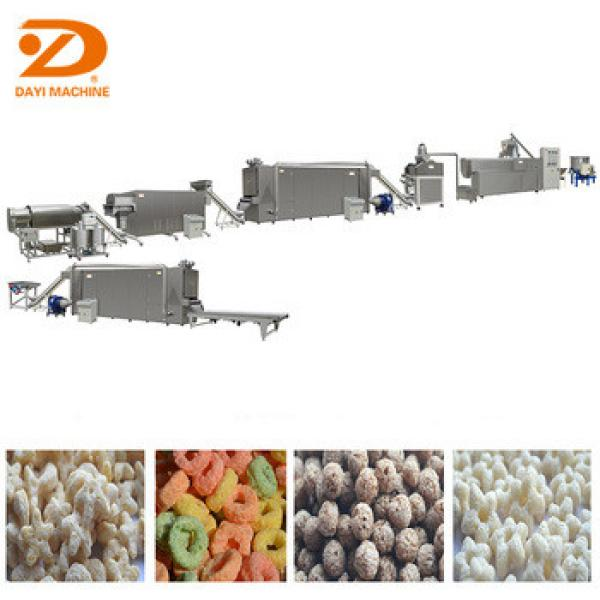 extruded breakfast cereals machine/automatic corn flakes production line