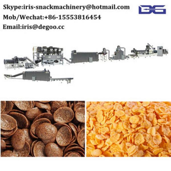 Sweet salty crispr corn flakes various shapes crispy chips snacks food breakfast cereal production line snacks food machine