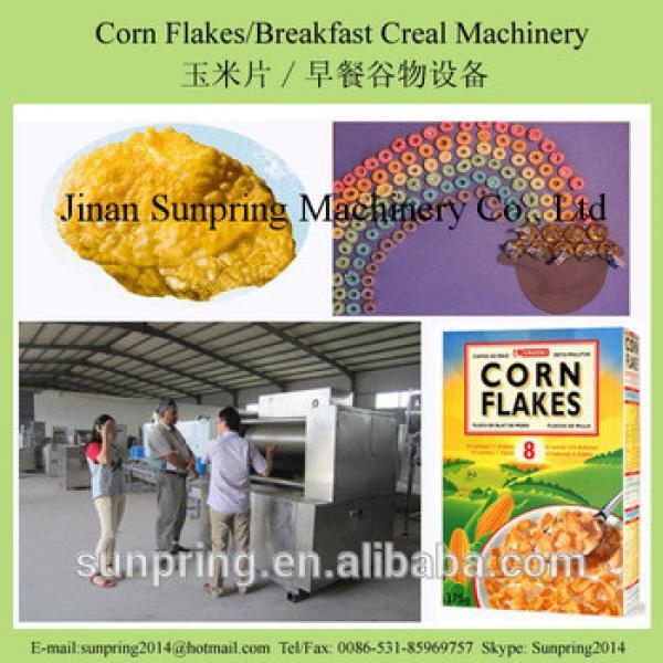 crunchy sugar glaze corn flakes making machine
