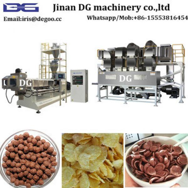 DG75 200KG/H Corn Grain Cereal Choco Coco Pic cereal corn chip flake food making extruder machine/production line