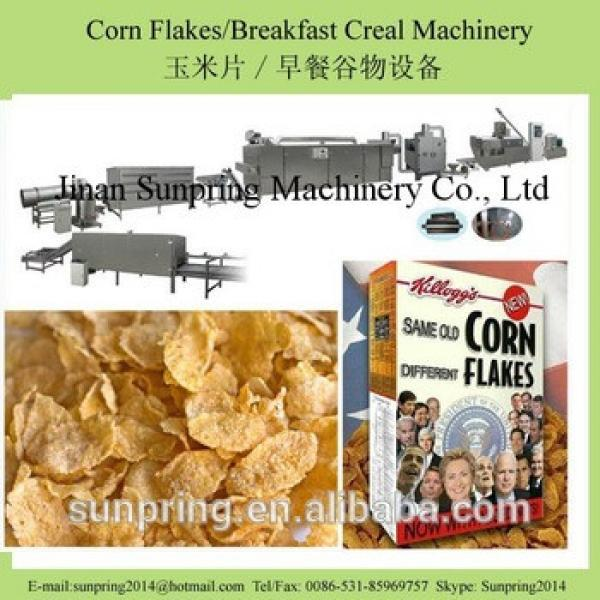 Crunchy roasted breakfast cereal corn flakes manufacturing plant